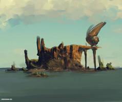 Creep Island Base by benedickbana