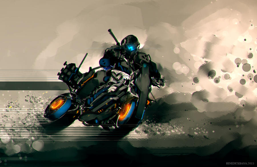 Speedpaint Race Against Time by benedickbana