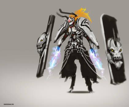 Hollow Omega Ichigo Fanart by benedickbana