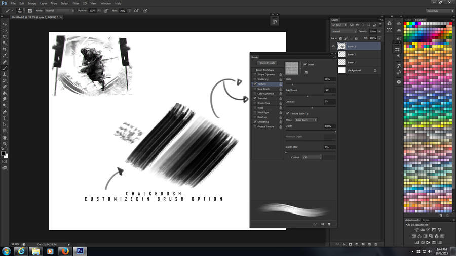 Process 001 BRUSH by benedickbana