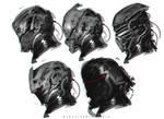Star Wars Kylo Ren Mask Helmet redesign fanart