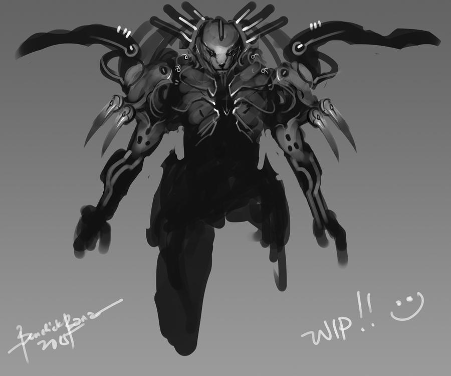 Dark Claw WIP by benedickbana