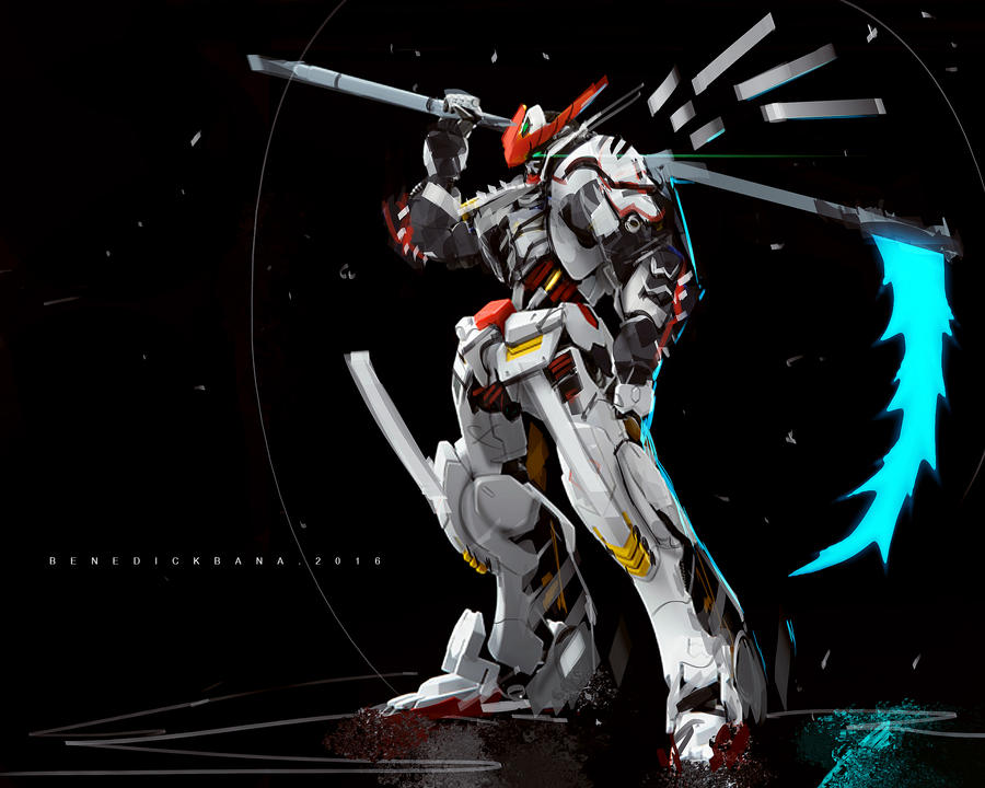 gundam barbatos fanart by benedickbana on deviantart