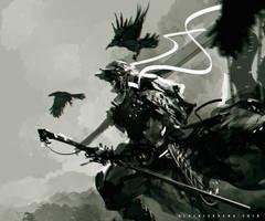 Samurai Crow by benedickbana