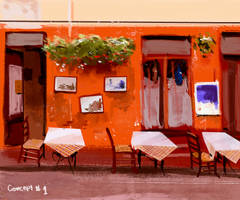 Street Cafe in Italy