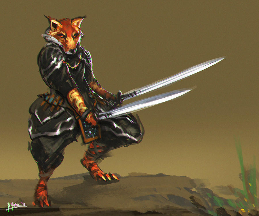 Fox Swordsman by benedickbana