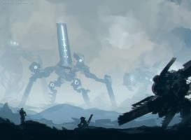 Giant Robots Island by benedickbana