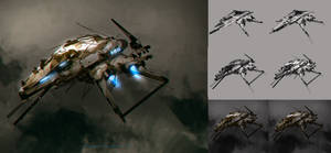 Spaceship practice by benedickbana