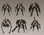 concept art Sci-Fi theme soldiers