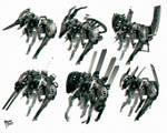 concept art Sci-Fi theme mechanical creatures