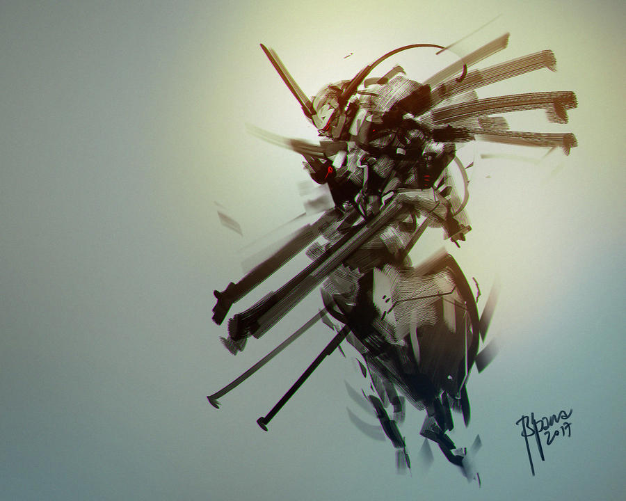 mech sketch design by benedickbana