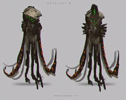 Creature design 003 OCTOCRETIN by benedickbana