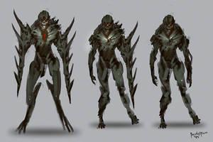 Creature Design Night Reaper by benedickbana