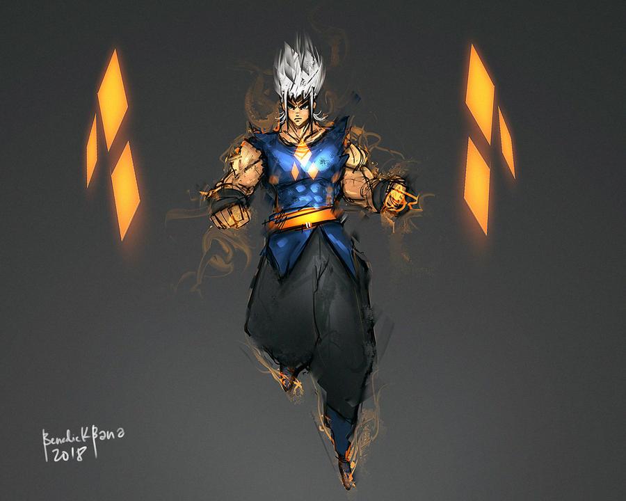 Son Goku Sol God Mode Light of Destruction by benedickbana