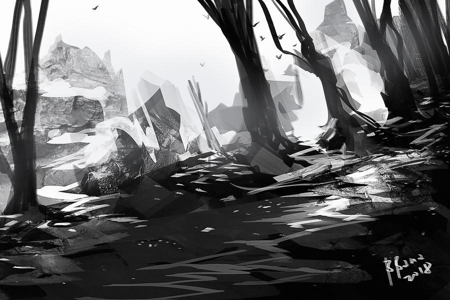 landscape study 002 BW by benedickbana