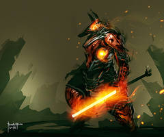 Anubis Burning Rage by benedickbana