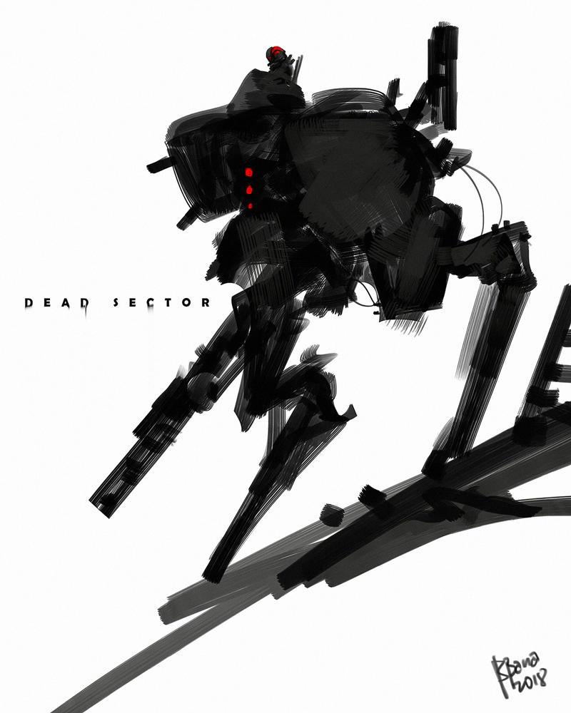 Dead Sector Cover Art design by benedickbana