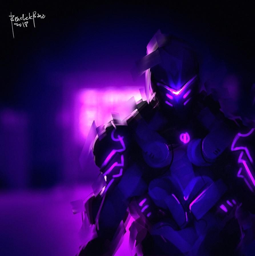 Speedpaint Neon Cyberpunk by benedickbana