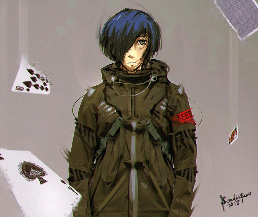 Persona 3 Makoto Yuki Fanart by benedickbana