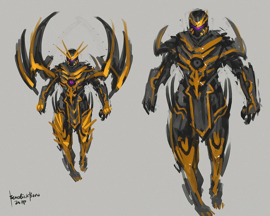 Fanart Marvel Full Armor THANOS Concept Art by benedickbana
