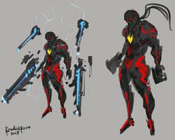 Fanart MArvel Starlord Dark Crimson Armor by benedickbana