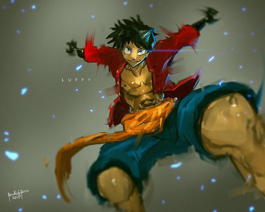 FanArt One Piece Luffy by benedickbana