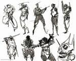 quick sketches soldier design