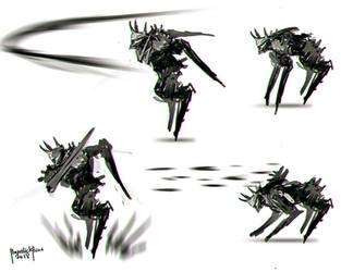 Creature Design Spike Smasher 02 by benedickbana
