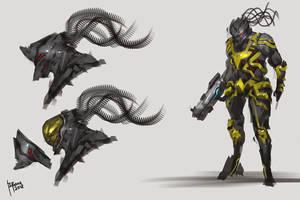 Raugor Alien Soldier by benedickbana