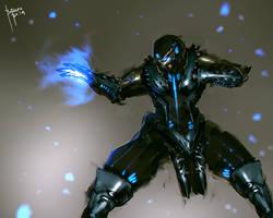 SubZero Cyber Evolution Fanart by benedickbana