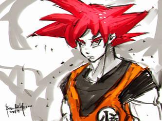 Fanart Son Goku GOD by benedickbana