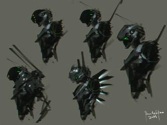 mercenary cyborg unit design by benedickbana
