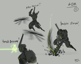 Gor 2 Attack poses by benedickbana