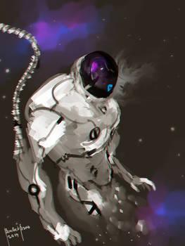 Space Frontier Cover Art Design