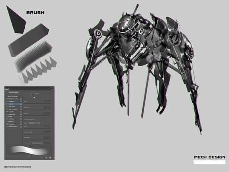 Mech Design Concept using CustomBrush