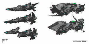 Space Battleship concept art