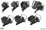 Scifi Head Designs A