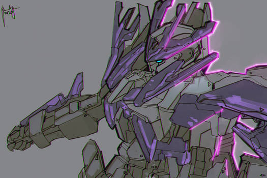 Transient Gundam Glacier Fanart