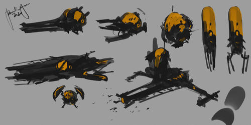 Speedpainting Scifi Ships with Youtube Vid
