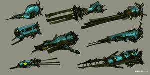 Speedpainting Scifi Ships PART2 with Youtube Vid