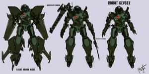 Robot Geyser Character Concept
