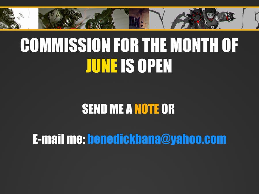 JUNE ART COMMISSION IS OPEN