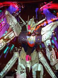 Freedom Gundam Fanart Neon Ver.