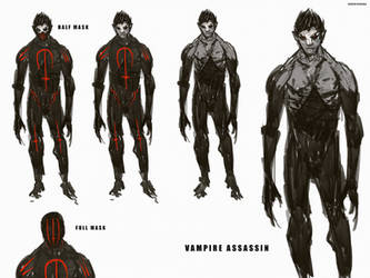 Vampire Assassin CharacterDesignSheet