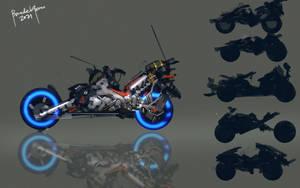 Cyberpunk Neonbike with YT