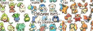 3 Pokemon tiles +video