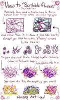 How to draw Scribble flowers by scribblin
