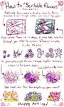 How to draw Scribble flowers