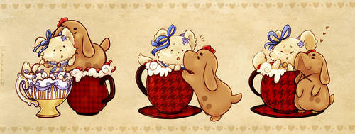 Christmas and Sander Teacats -Commission