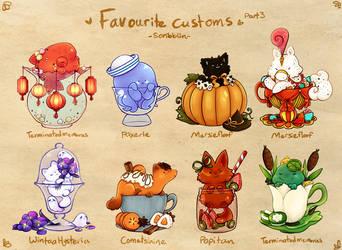 Favourite Teacat customs 3 by scribblin